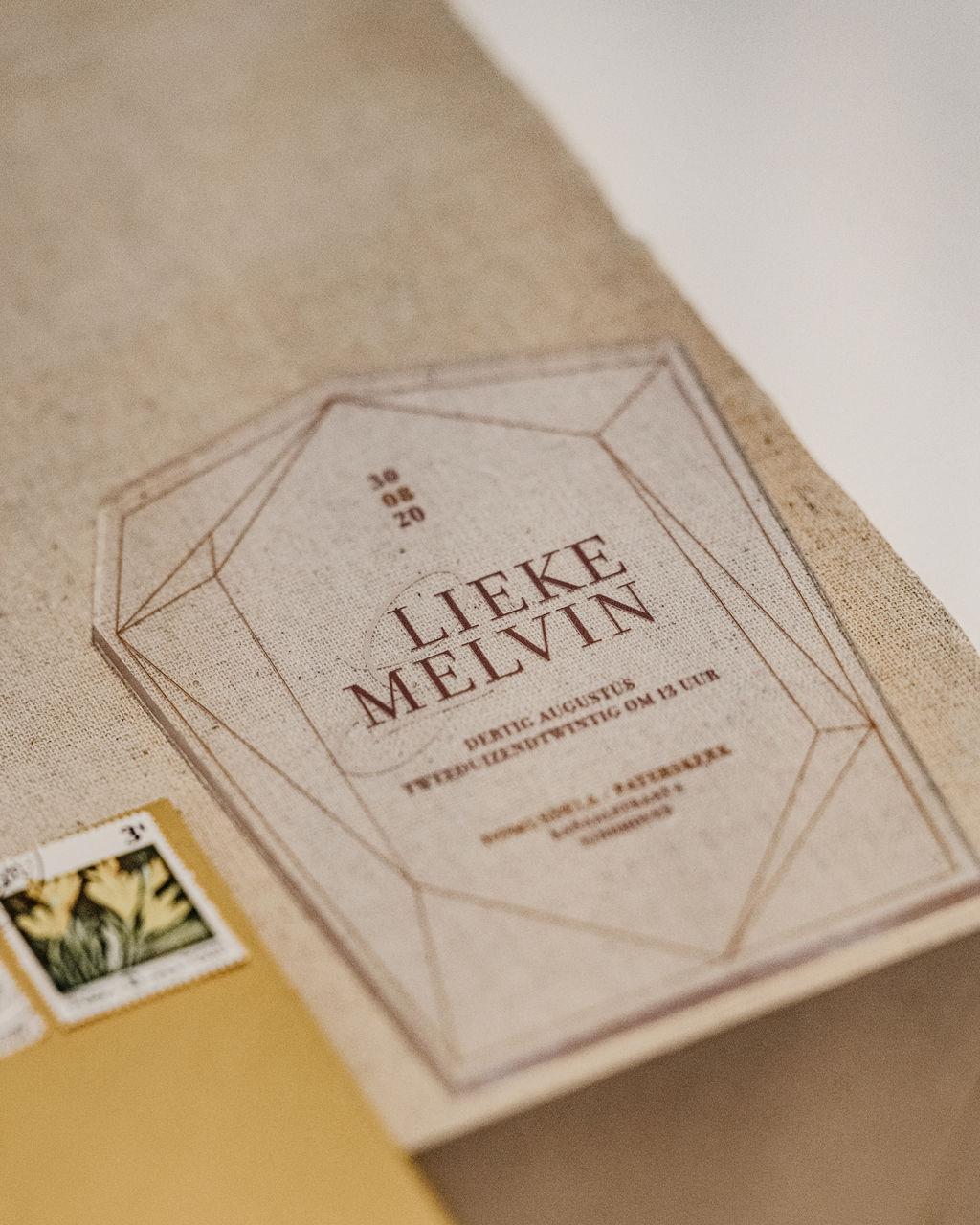 Plexiglas Uitnodiging trouwkaart Luxe