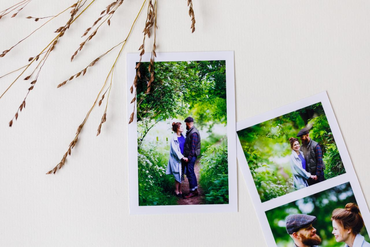 eco mét fotostrip trouwkaart