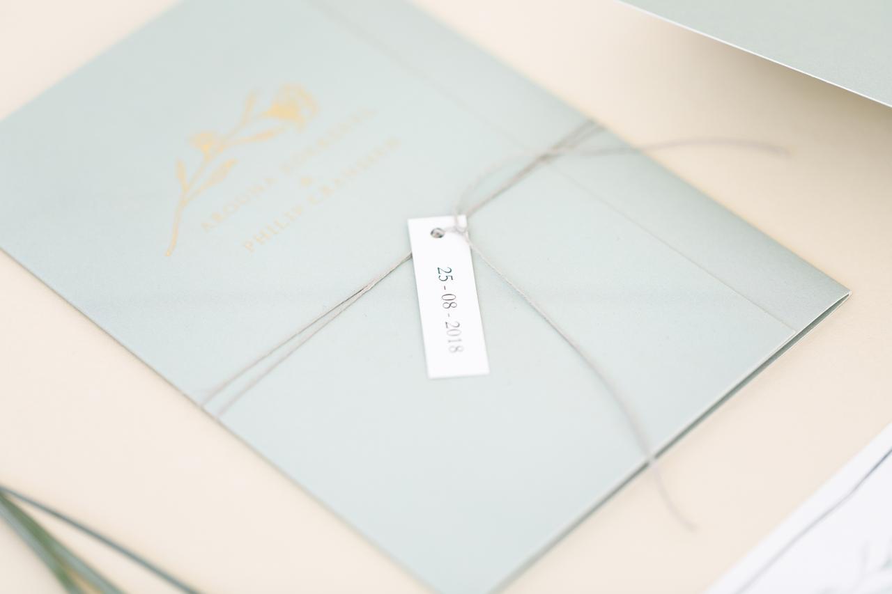 Handgetekende drieluik trouwkaart trouwkaart Handgemaakt Klassiek Illustratie Origineel