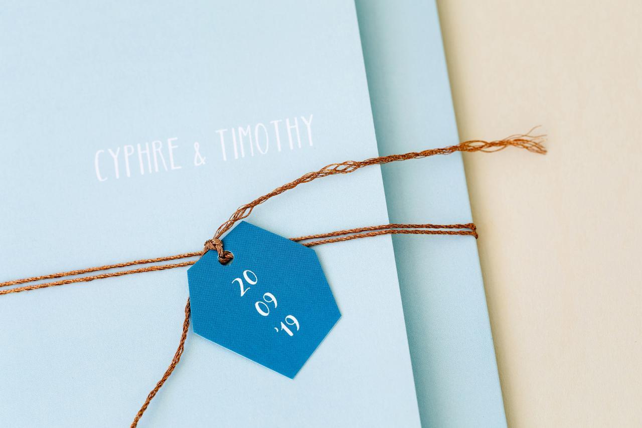 Drieluik met koperfolie en turquoise trouwkaart Modern Origineel Stoer Brons zilver en goud