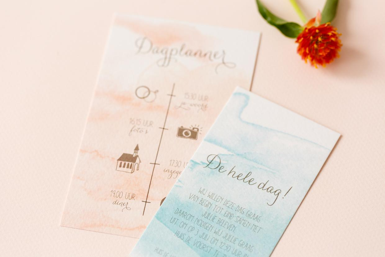 Pastel en waterverf trouwkaart trouwkaart Modern Origineel Romantisch Aquarel en Watercolor