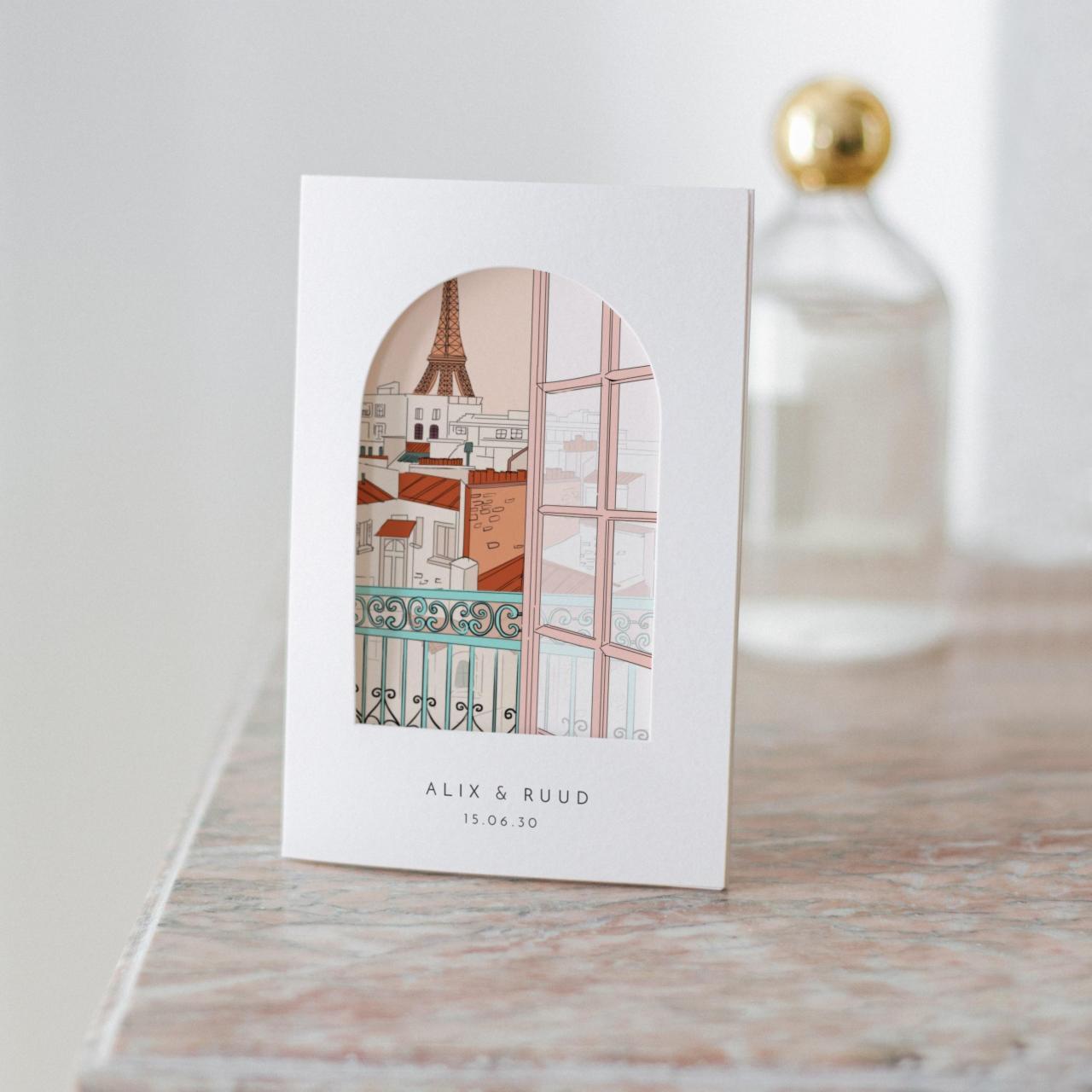 Montmartre trouwkaart Romantisch
