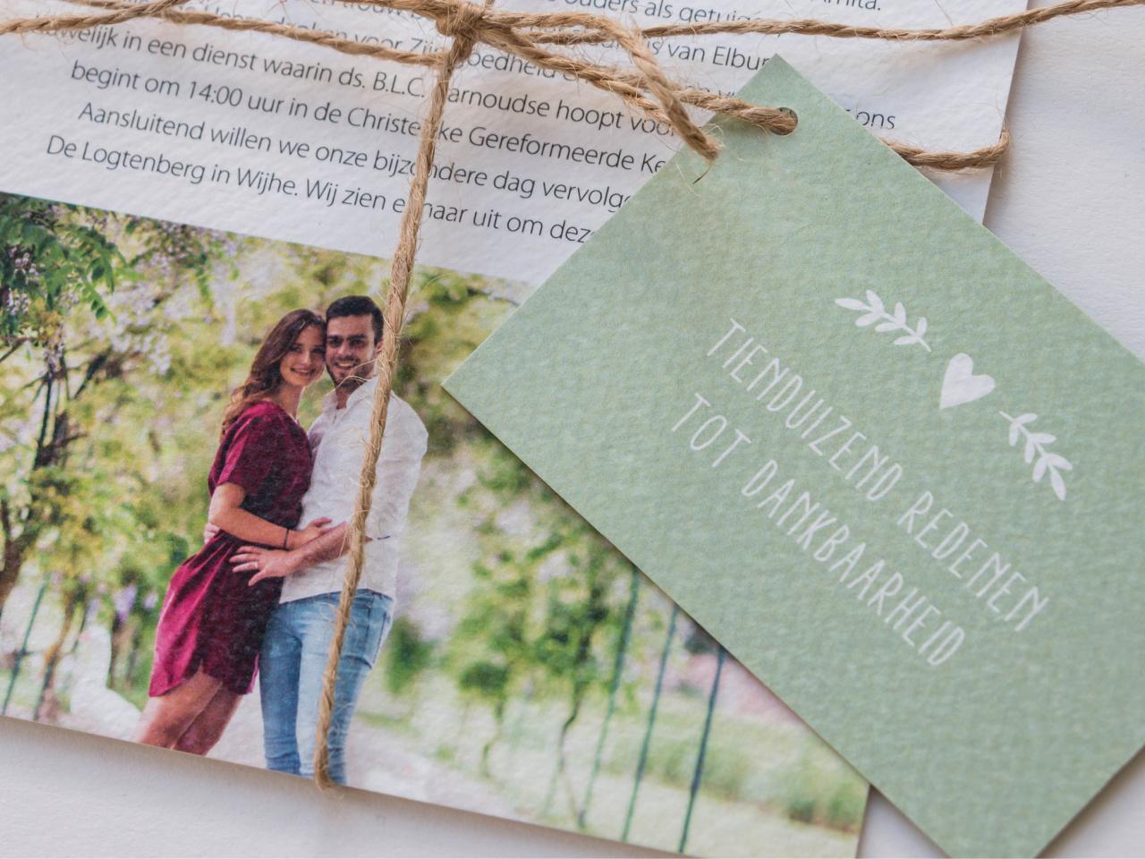 Trouwkaart pakketje trouwkaart Origineel