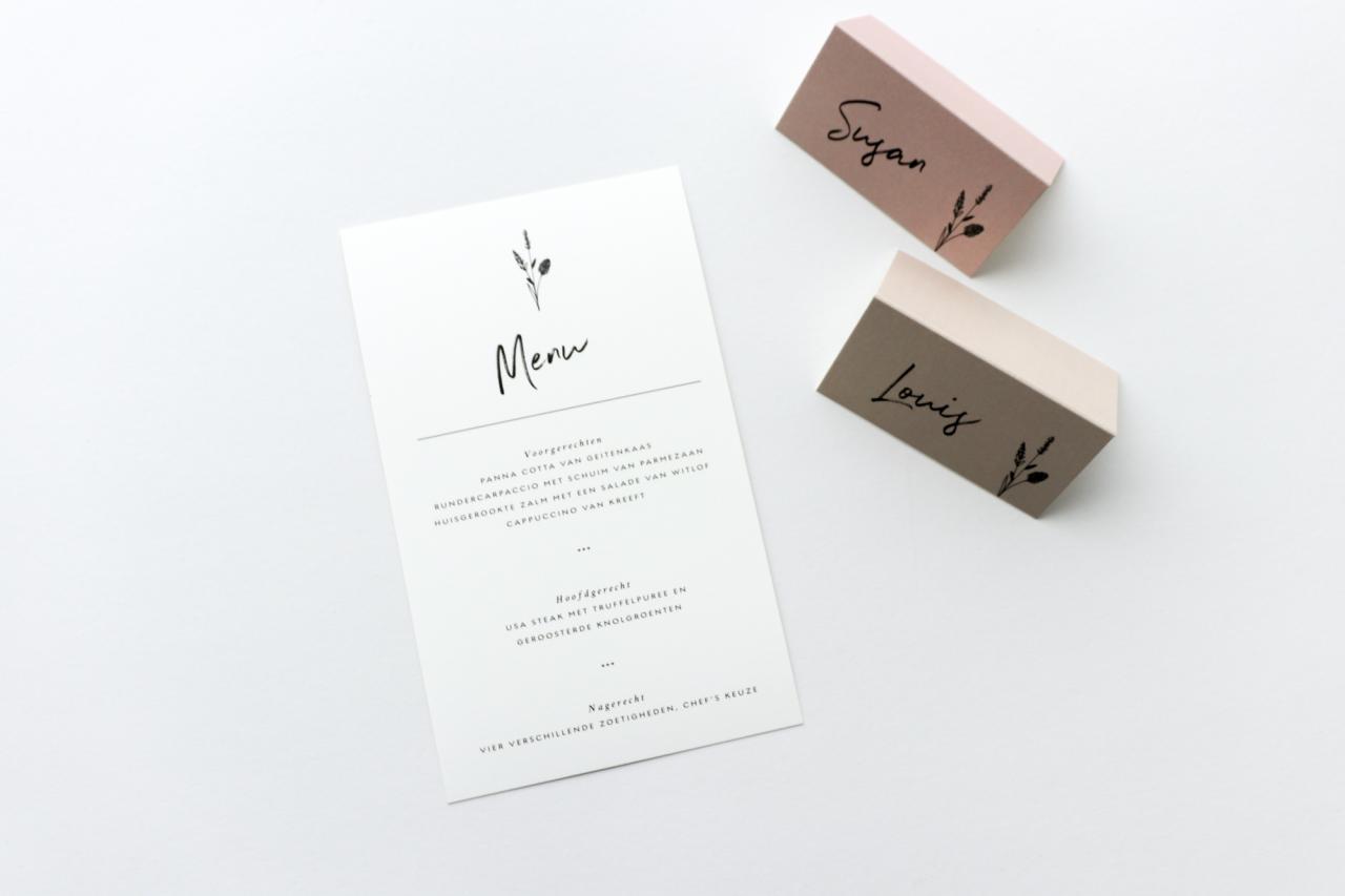 Stijlvol & stoer trouwkaart Origineel
