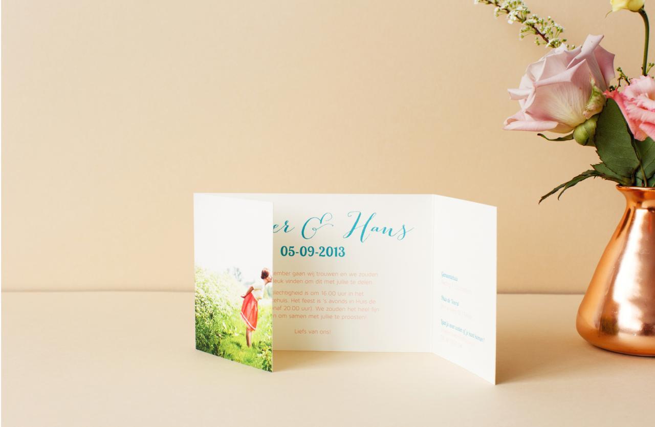 luikgevouwen trouwkaart trouwkaart