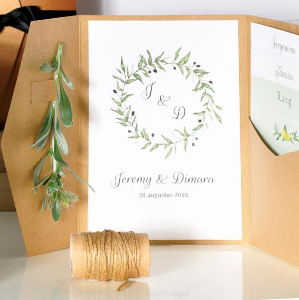 Unieke pocketfoldtrouwkaarten trouwkaart Origineel