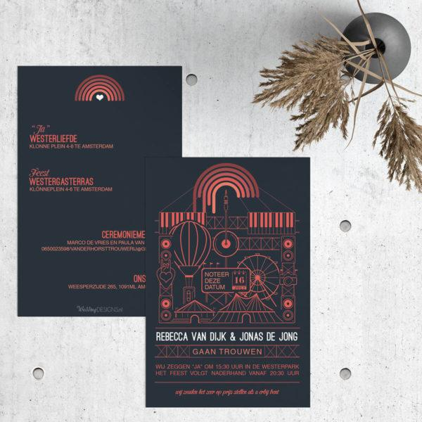 Trouwkaart Festival trouwkaart Modern