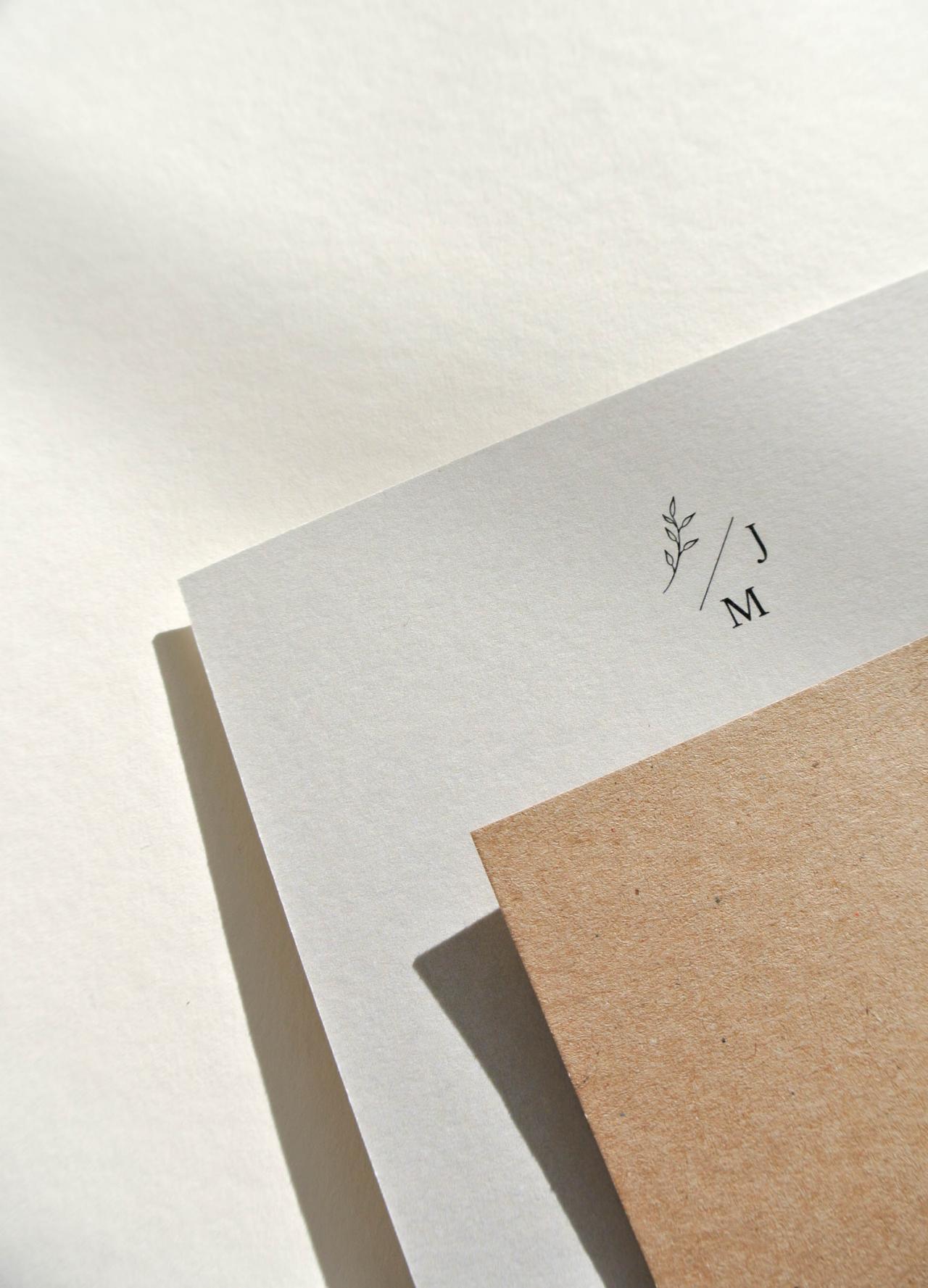 Trouwkaart Jeroen & Martine trouwkaart Kraft